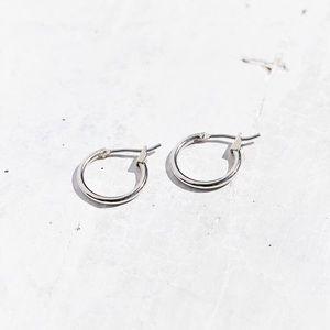 NWT Urban Outfitters Modern Hoop Silver Earrings
